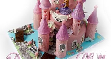 PrinsesseSlott – bursdagskake med prinsesse, sjømonster, glitter og blomster…! {Bildedryss}