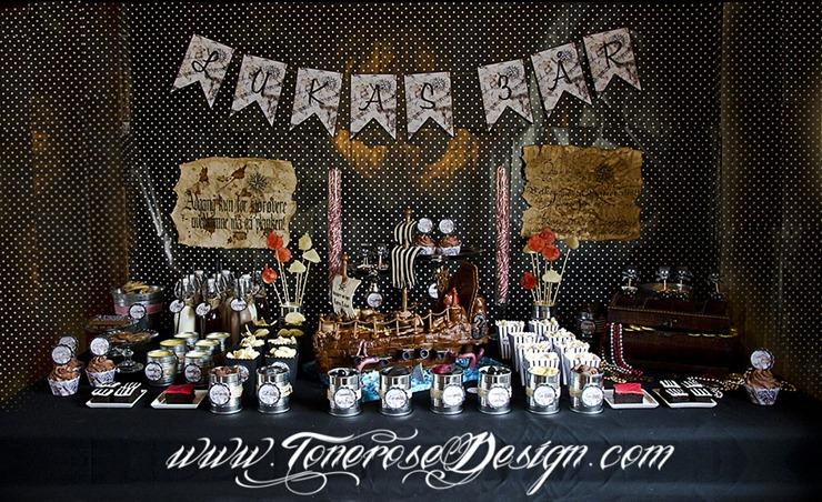 Sjørøverbursdag dessertbord kakebord pirat bursdag sjørøver IMG_5698