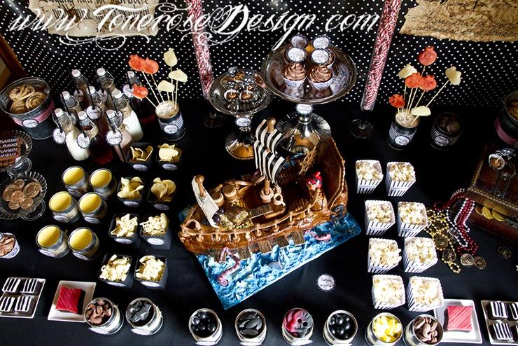 Sjørøverbursdag dessertbord kakebord pirat bursdag sjørøver IMG_5700