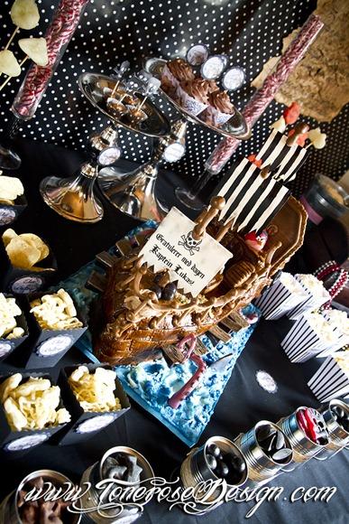 Sjørøverbursdag dessertbord kakebord pirat bursdag sjørøver IMG_5733