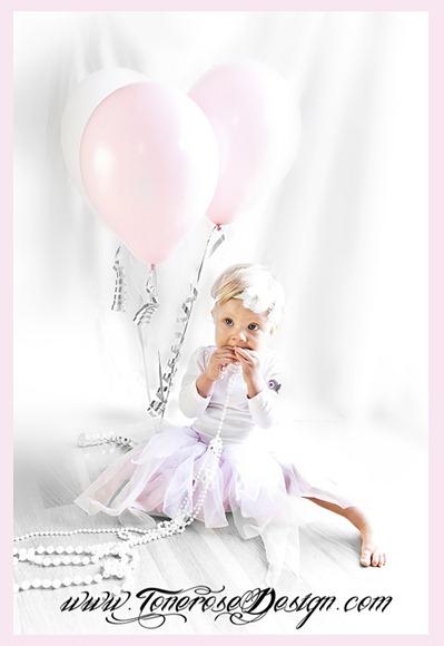 ettårsfotografering med ballonger