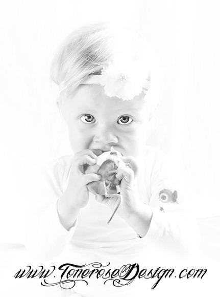 ettårsfotografering svarthvitt