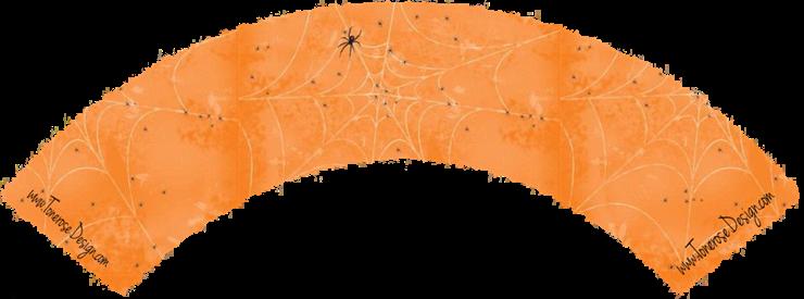 cupcake wrapper oransj med spindelvev halloween