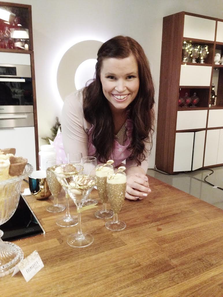 Glitrende dessertbord til nyttårsaften diy