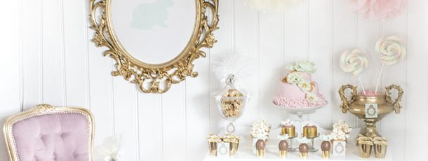 { dessertbord til påske – pastell og gull }