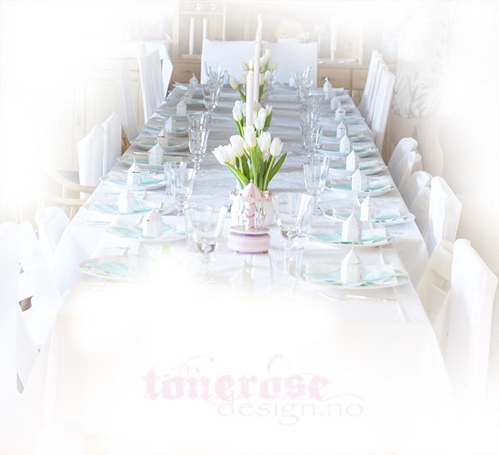 Inspirasjon barnedåp bordekking bord