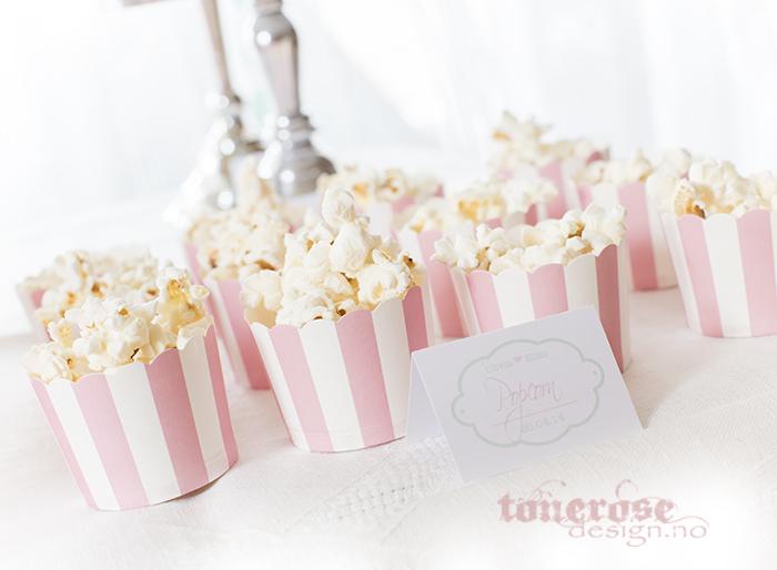 Popcorn i cupcakeformer - tips til kakebordet