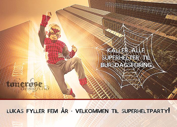 LUKAS superheltbursdag superheltinvitasjon barnebursdag