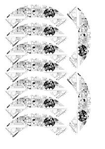 tegneserie superhelt minicupcakewrapper