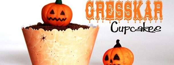 Søte GresskarCupcakes {Reblogging Halloween}