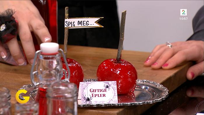 giftige epler karameliserte epler oppskrift