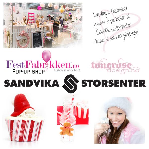 { Sandvika Storsenter torsdag 11.desember // FestFabrikken Pop Up-Shop }