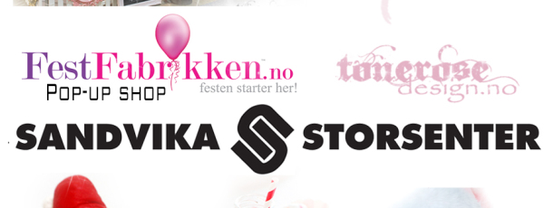 { Sandvika Storsenter torsdag 11.desember // FestFabrikken Pop Up-Shop }