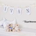 Gratis banner / vimpelrekke til barnerommet eller barnedåp