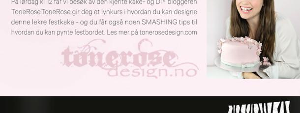 { Buskerud Storsenter // lørdag 18. April // ToneroseDesign // DIY // kake }