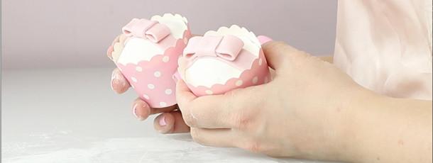 Cupcakes med sløyfe
