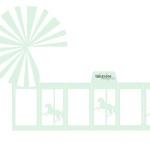 Gratis bordkort barnedåp - karusell ! DIY favorbox - mintgrønn