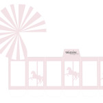 Gratis bordkort barnedåp - karusell ! DIY favorbox - rosa