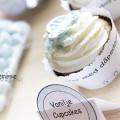 Gratis cupcakewrapper lyseblå boblebil - supersøt til barnedåp