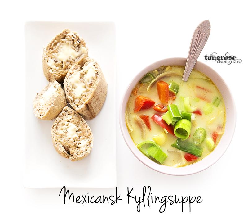 KL5A3302 kopier copy mexicansk kyllingsuppe oppskrift tips middag