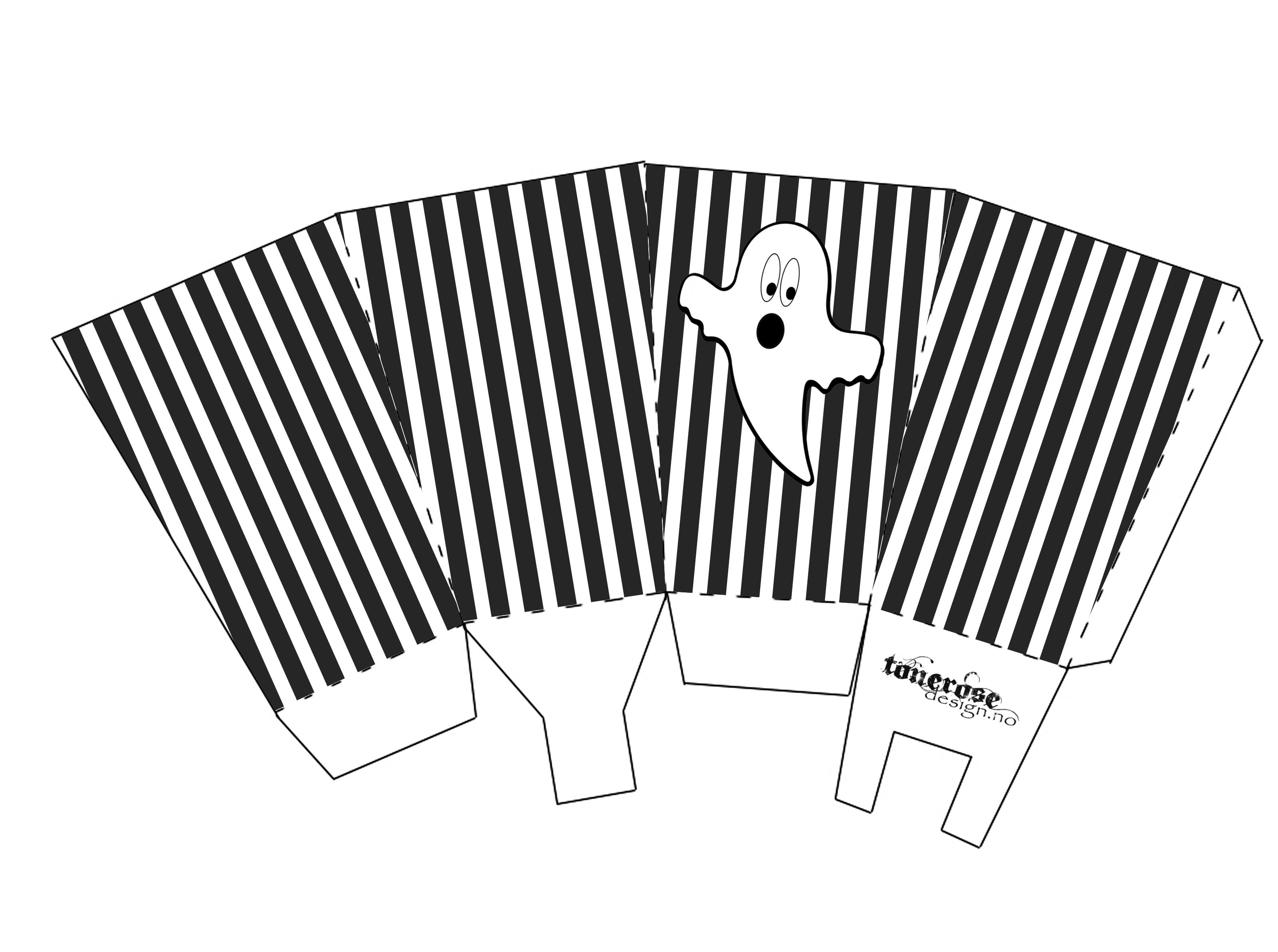 Popcornbeger Halloween GMN spøkelse