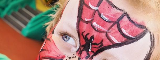 { Ansiktsmaling Spiderman // DIY // JukseSuperMamma }