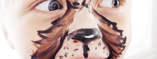 { Enkel og imponerende ansiktsmaling // DIY // JukseSuperMamma // Hund }