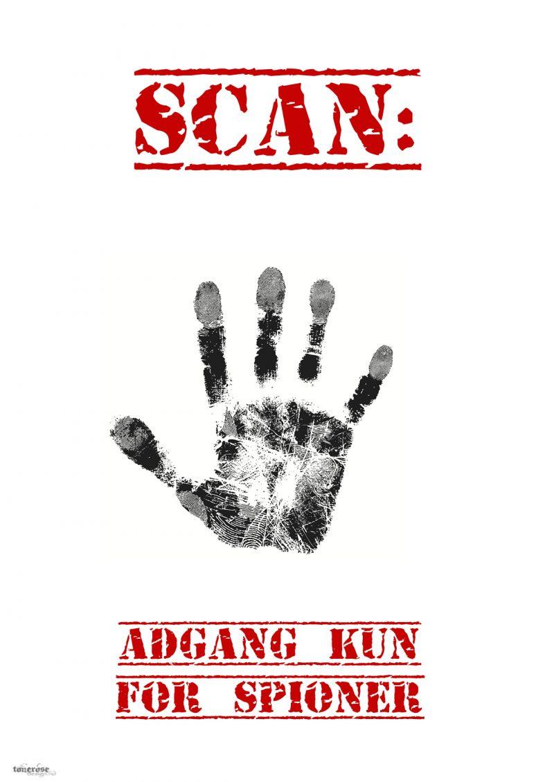 scan spion håndavtrykk tonerosedesign