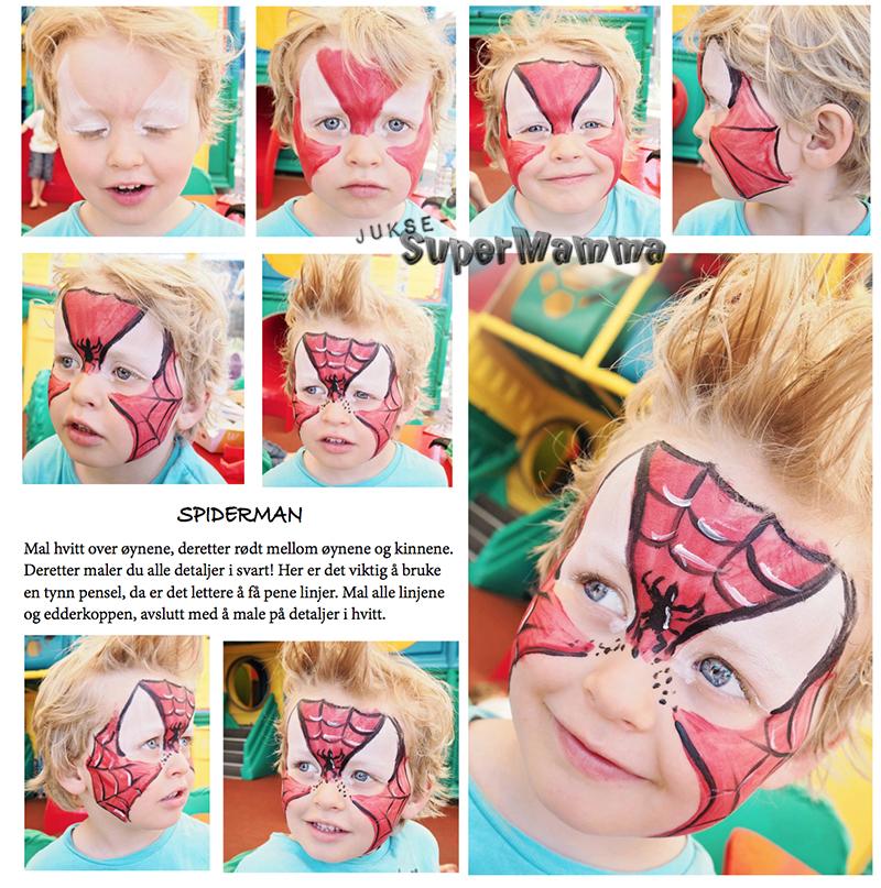 spiderman ansiktsmaling barnebursdag