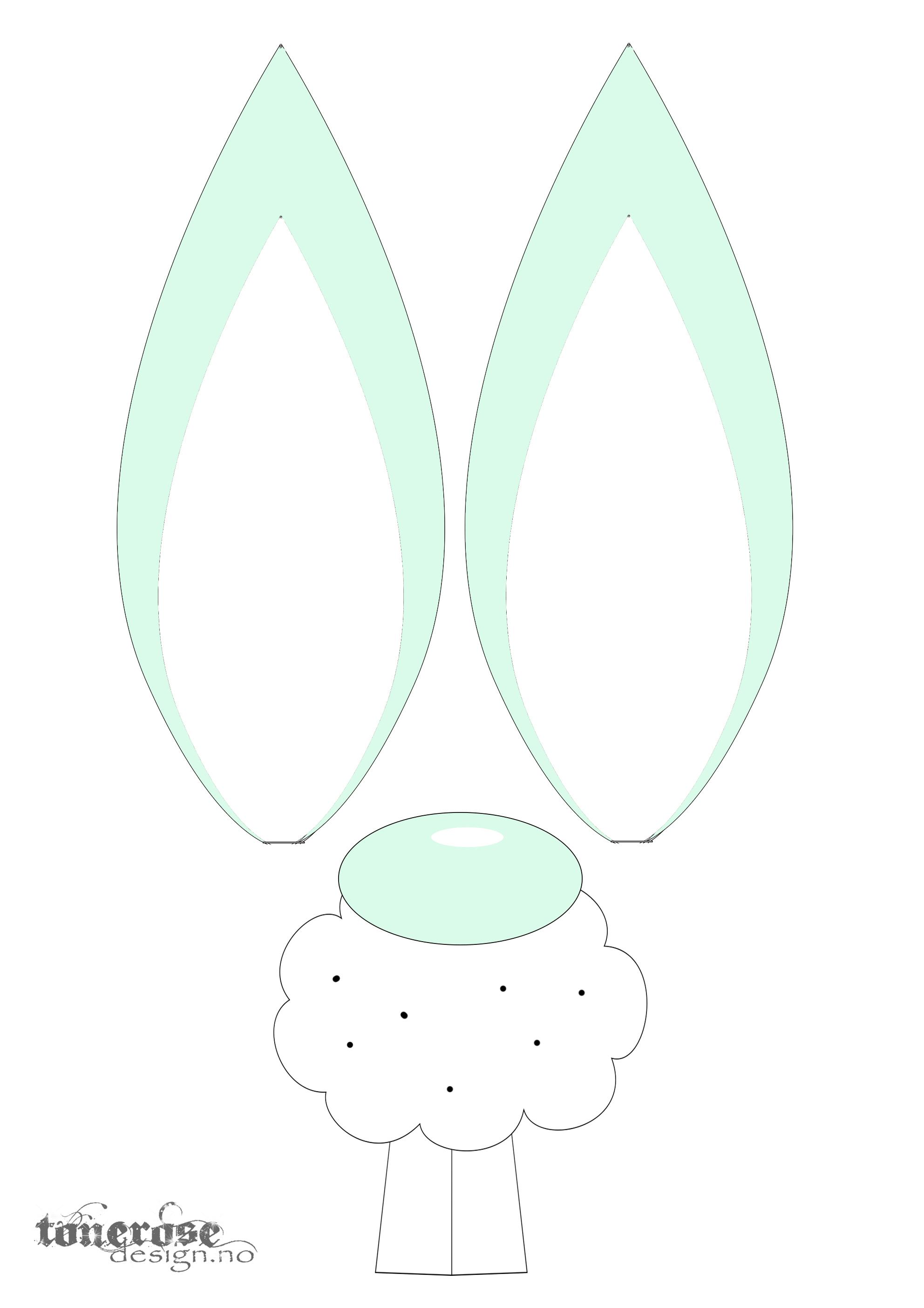 JukseSuperMamma påske ører og nese grønn