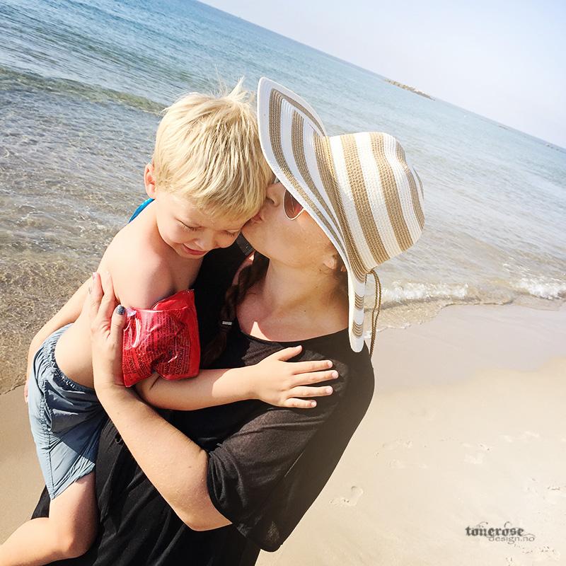 på stranda havet sommer