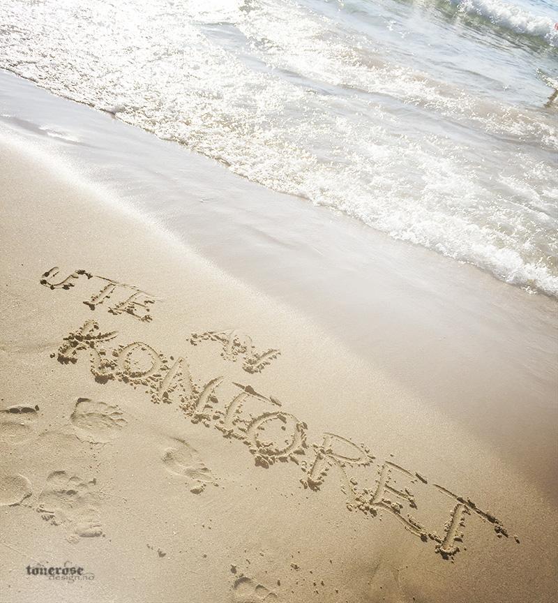 ute av kontoret stranda sand hav