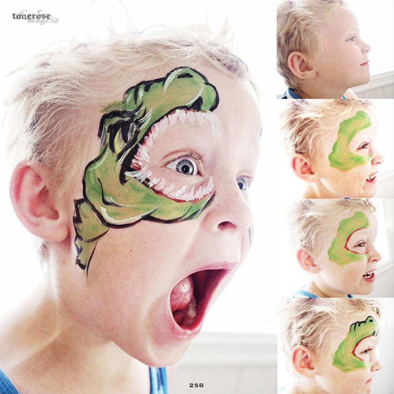 JukseSuperMamma ansiktsmaling dinosaur