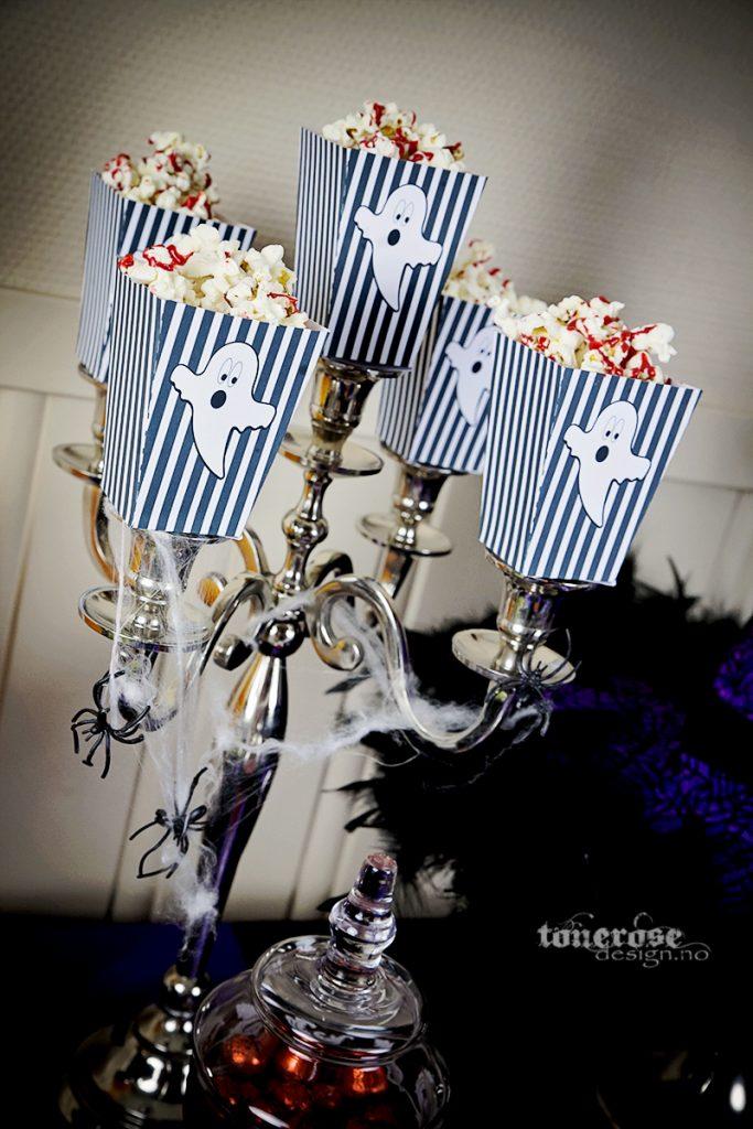 Gratis popcornbokser til halloween