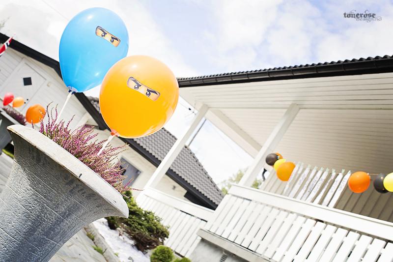 Ninja bursdag ballonger ninjago barnebursdag KL5A5125