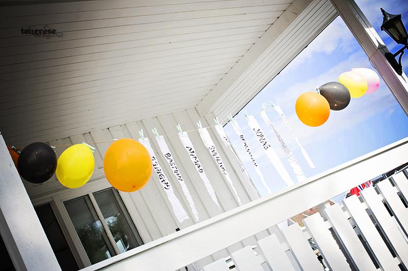Ninja bursdag ninjabånd ballonger barnebursdag KL5A5120