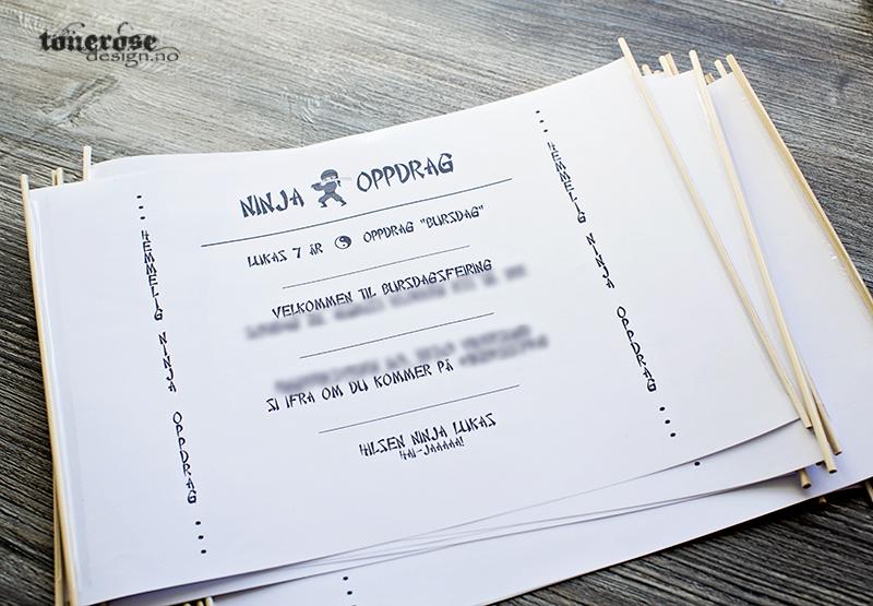 Ninja invitasjoner barnebursdag diy gratis print KL5A3612