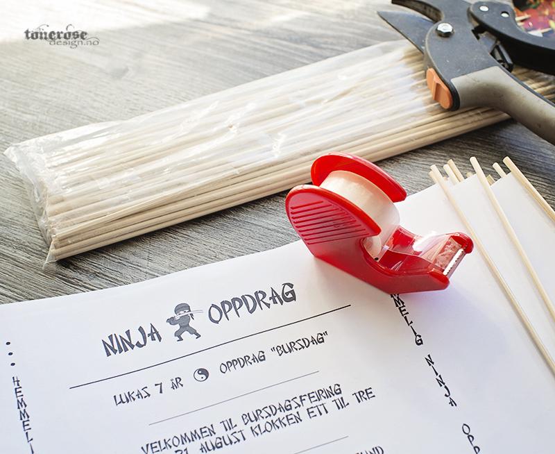 Ninja invitasjoner diy print gratis barnebursdag KL5A3614