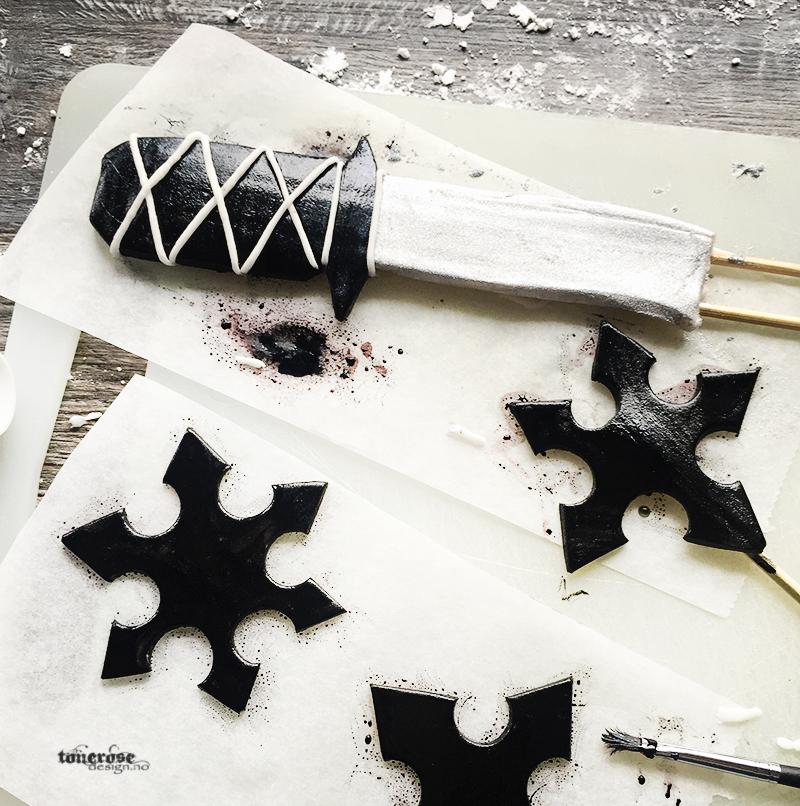 Ninja kake diy sverd kastestjerner IMG_7256