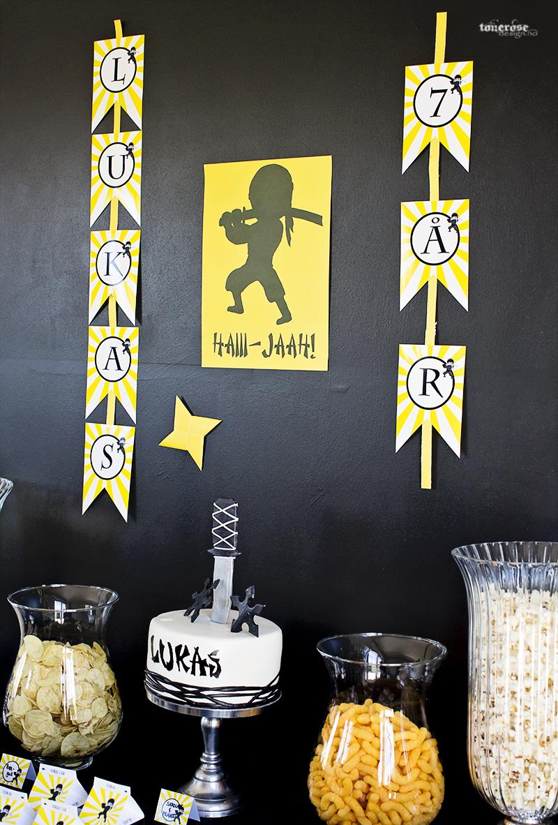 Ninja party dessertbord barnebursdag KL5A3696