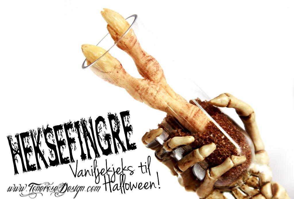 Halloween vaniljekjeks heksefingre oppskrift
