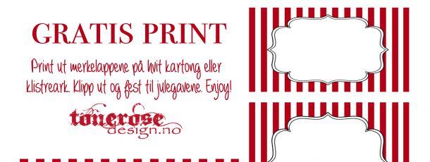 { Gratis merkelapper til jul – candy cane! }