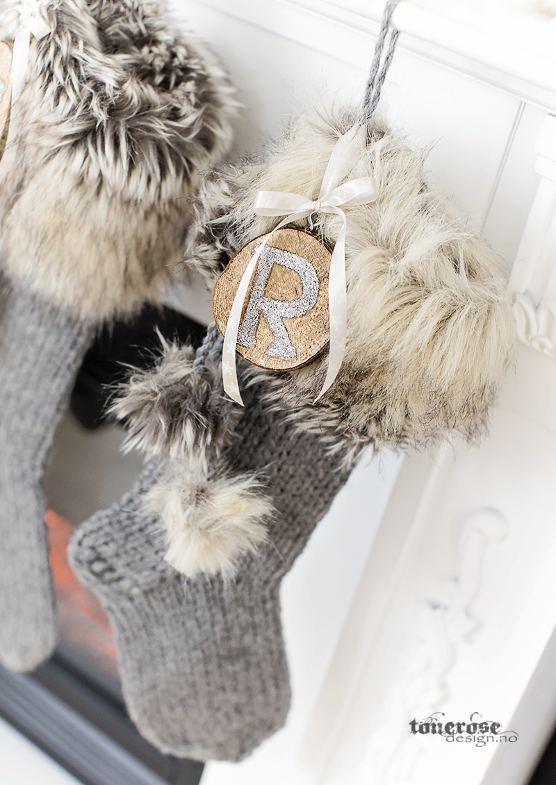 Håndlaget julestrømpe rustikk KL5A5946