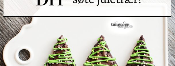 { Brownies til jul – små juletrær på pinne! }