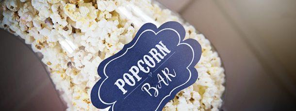 { Popcorn bar // rustikt skilt – tavle, gratis }