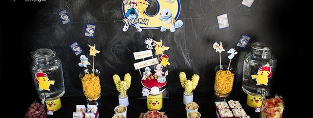 { Pokémon-party; dessertbord }