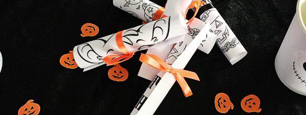 { Halloween // Fargeleggingsark // Gratis print }