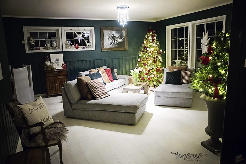 juledekket bord julepyntet hus jul diy julepynt KL5A2208 ...