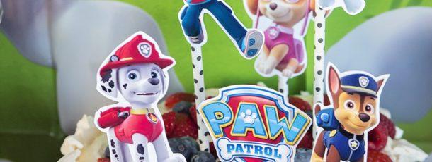 { Kule skilt til Paw Patrol kake – enkel og dekorativ pynt // Gratis print }