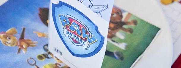 { Gratis print // DIY liten fargeleggingsbok // Paw Patrol bursdag // Tips borddekking }